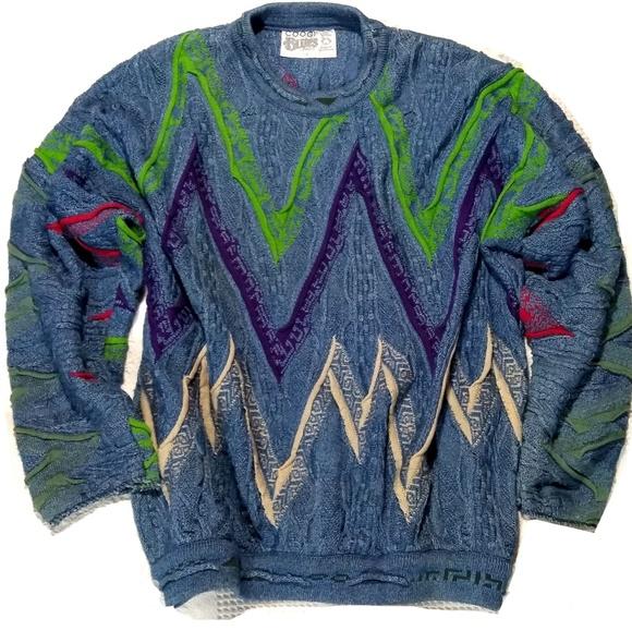 Vaporwave Christmas Sweater.Coogi Australia 74095 Blues Vaporwave Sweater